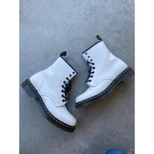 Dr. Martens 1460 White Smooth Leather Boots 10